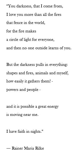 "Rilke's ""You Darkness"""