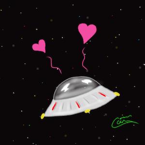 Cute Spaceship Icon