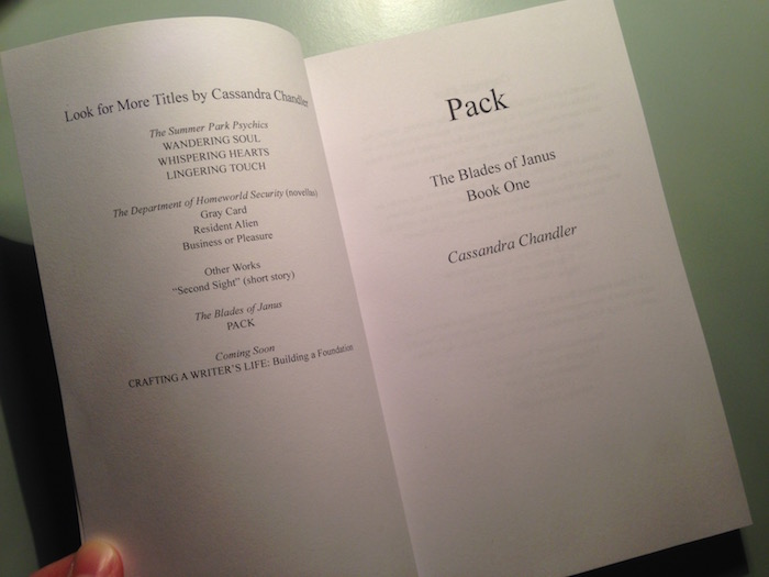 Pack Proof Title Page
